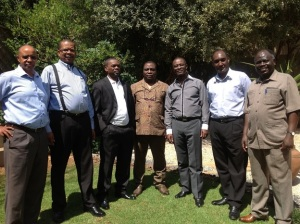Dr Murayi (3rd from right) wants Dr Theogene Rudasingwa to repay his money. In this photo, it was during the meeting where the establishment of Radio Impala was decided